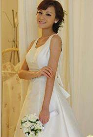 叶一茜纯白婚纱气质甜美优雅