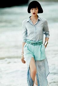 表姐刘雯短发造型清纯唯美 潮流女装搭配时尚平安彩票开奖网