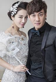 何润东李依晓拍摄幸福唯美婚纱写真