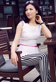 刘涛休闲时尚御姐范街拍照