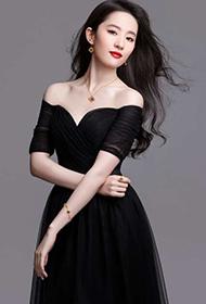 气质女星刘亦菲一抹红唇美艳写真