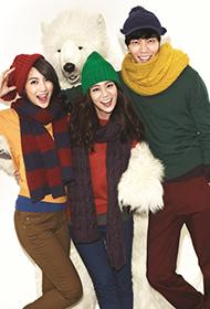 李民基與KARA拍攝時尚溫暖冬裝宣傳照