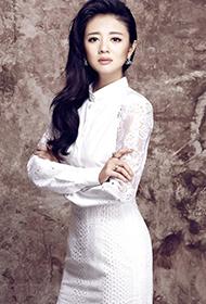 安以轩时尚杂志尽显知性美