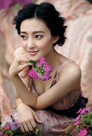 王丽坤花样长裙 甜美春日精灵气质
