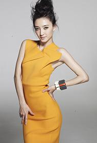 王丽坤初夏时尚服饰代言 紧身连衣显身段
