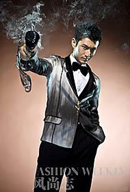 黄晓明演绎不羁男人更显型男魅力
