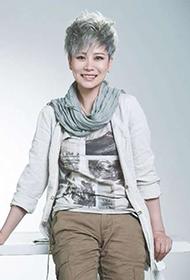 海清酷炫短发搭围巾中性时尚装扮写真