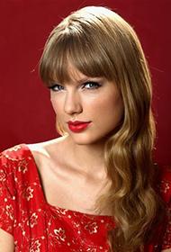 泰勒·斯威夫特红裙魅惑人心写真照