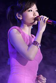 女歌手张靓颖甜美可人出镜