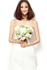 张歆艺纯白婚纱展唯美动人写真大片