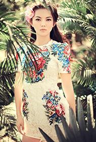 李湘唯美梦幻宛如花样少女