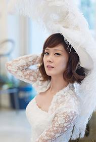 韩星张娜拉幸福唯美婚纱照