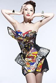 女歌手蕭亞軒前衛時尚魅力寫真