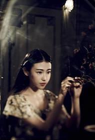 张辛苑时尚杂志复古红唇魅力迷人