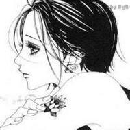 手绘唯美动漫女孩qq卡通黑白头像图片