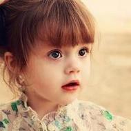 卡哇伊可愛的歐美小女孩微信頭像圖片