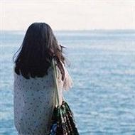 小清新女生背影海邊唯美qq頭像圖片
