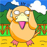 四肢短壮的可爱卡通可达鸭头像图片