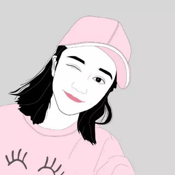 小清新卡通女生唯美插画qq头像图片