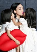 鐘麗緹攜女兒拍時尚COSMO雜志寫真