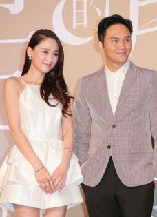 陈乔恩张智霖新片谈情 《十月初五的月光》发布会主创出席