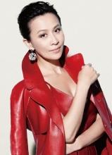 刘嘉玲高贵优雅登杂志封面