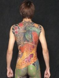 日式经典全甲纹身