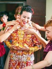 中式婚禮紅的喜悅