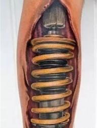 霸气的机械腿纹身