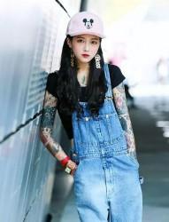 韓國美女紋身師Lina Ahn的時尚紋身秀