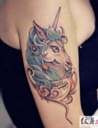 超炫的独角兽纹身图片