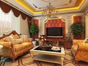 客廳吊頂沙發圖片