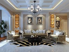 简欧简欧风格客厅背景墙沙发客厅沙发设计案例展示