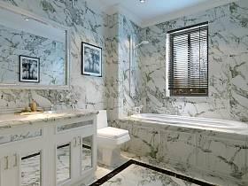 法式浴室淋浴房裝修效果展示