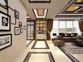 現代現代風格客廳單身公寓設計圖