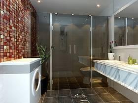現代簡約浴室淋浴房設計方案