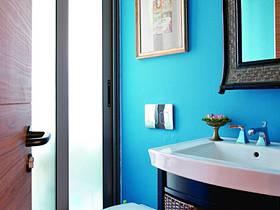 美式混搭衛生間復式樓衛浴圖片