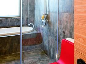 美式混搭衛生間復式樓衛浴效果圖