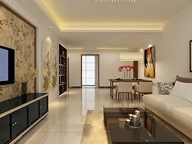 現代客廳吊頂電視背景墻設計案例展示