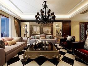 歐式客廳吊頂設計方案