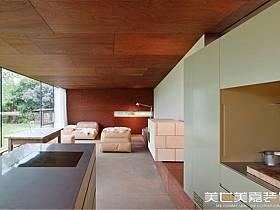 美式鄉村風格廚房別墅設計圖