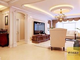 歐式客廳吊頂電視背景墻設計案例展示