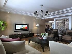 現代現代風格客廳吊頂電視背景墻設計圖