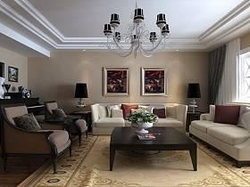 现代现代风格客厅吊顶图片