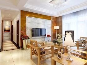 混搭混搭风格客厅电视背景墙装修案例