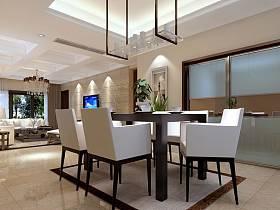 现代餐厅吊顶设计方案