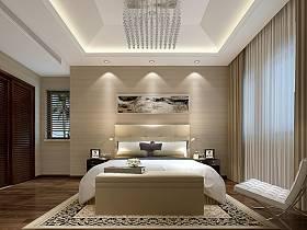现代卧室吊顶设计方案