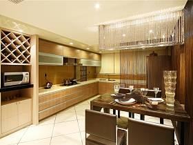 現代餐廳吊頂酒柜設計案例