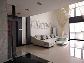 现代客厅跃层效果图