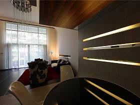 現代客廳躍層吊頂圖片